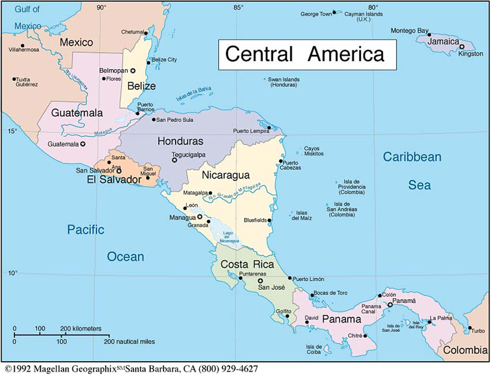 picture - foto - car - templates - fotos: Map Of Central America